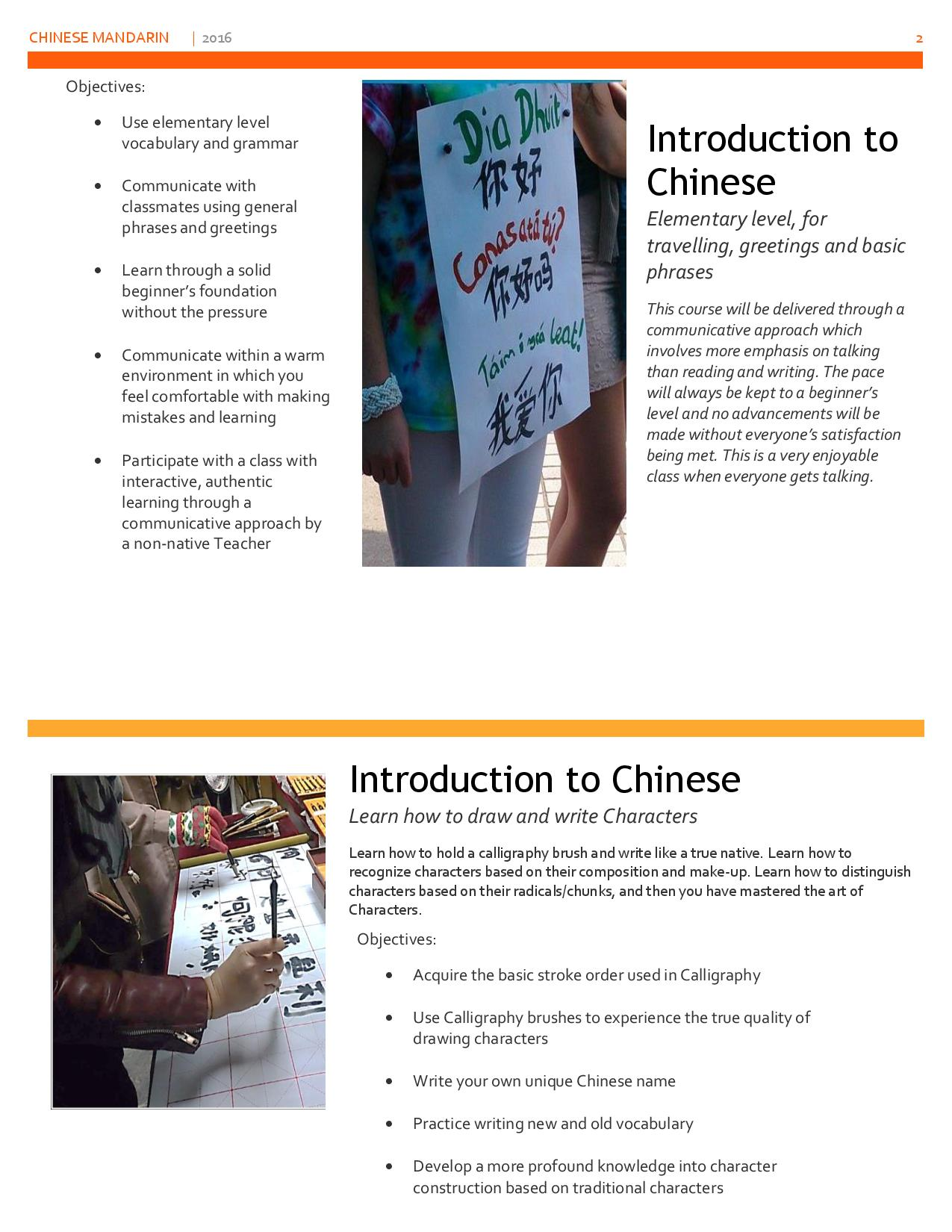 Chinese Mandarin Beginners Gorey Adult Education